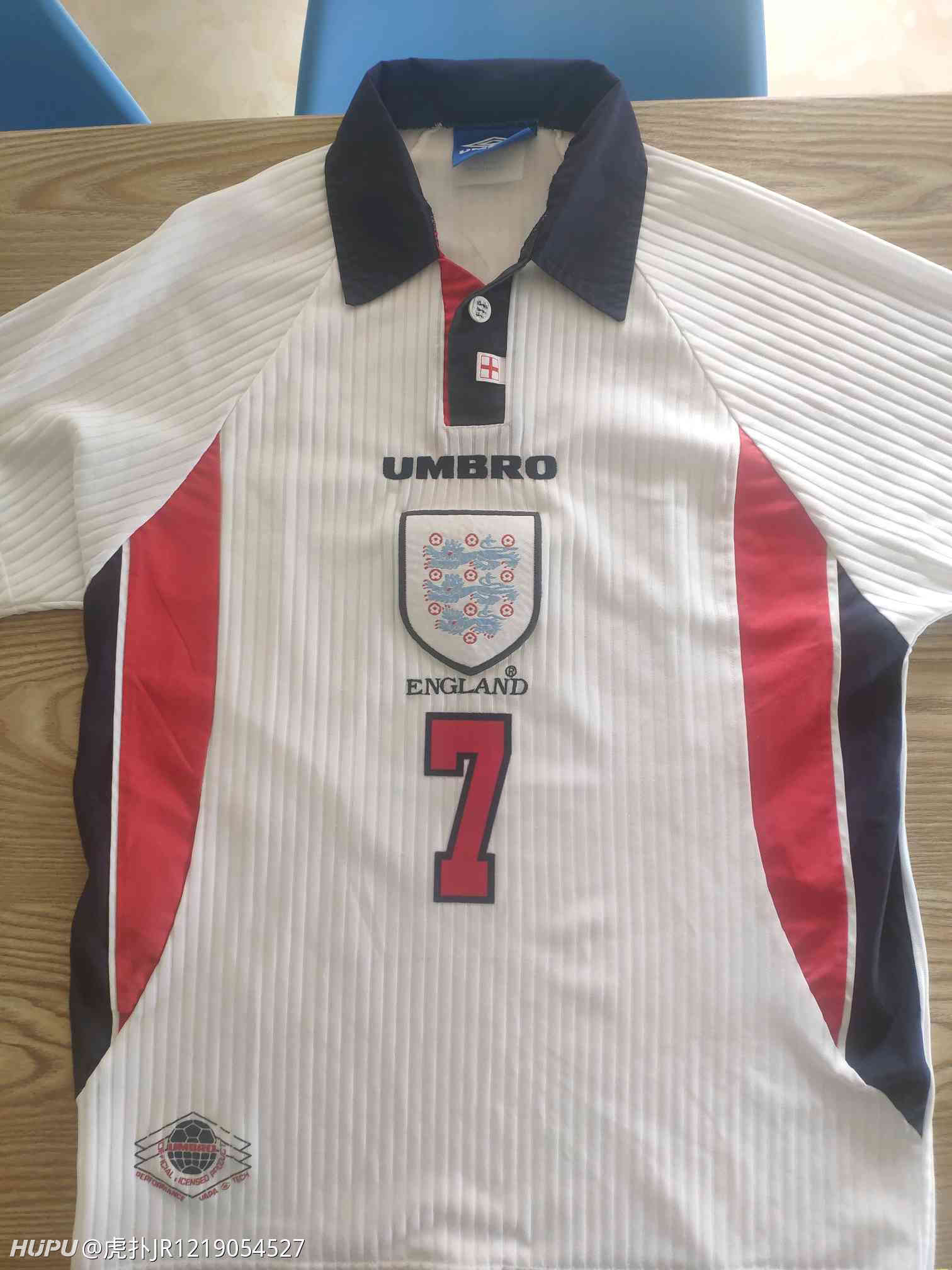 98年世界杯英格兰小贝球衣(求大神鉴定)  足球话题区